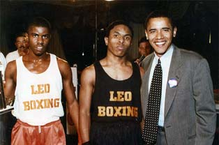 President Obama with a Leo Boxing Club
